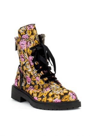 Ботинки fornarina. Цвет: коричневый, розовый