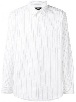 Рубашка в полоску A.P.C.. Цвет: белый