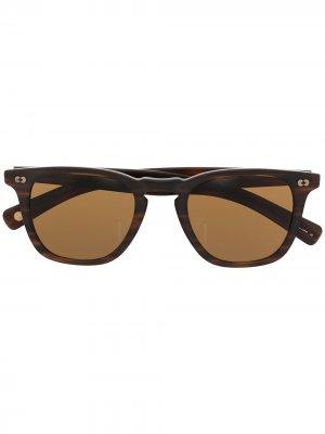 Солнцезащитные очки трапециевидной формы Garrett Leight. Цвет: коричневый