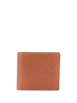Бумажник с логотипом LOEWE. Цвет: коричневый