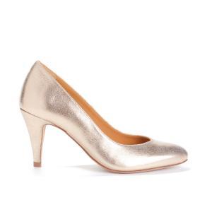 Туфли с ламелями золотистого цвета LA FLATTEUSE BOBBIES. Цвет: золотистый