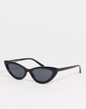 Черные солнцезащитные очки кошачий глаз -Черный AJ Morgan