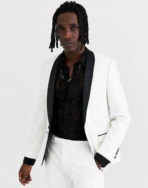 Белый пиджак-смокинг Twisted Tailor