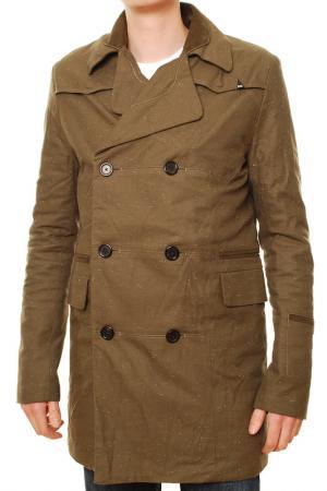 Пальто Denham. Цвет: зеленый