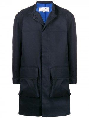 Макинтош с накладными карманами YMC. Цвет: синий
