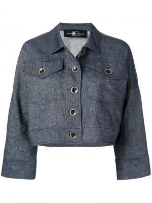 Укороченный пиджак на пуговицах Luisa Cerano. Цвет: синий