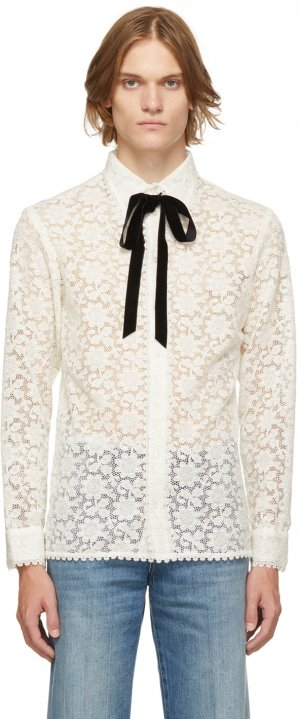 Off-White Floral Macrame Shirt Gucci. Цвет: 9799 off white/mix