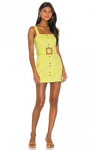 Мини платье delight Lovers + Friends. Цвет: лимонный