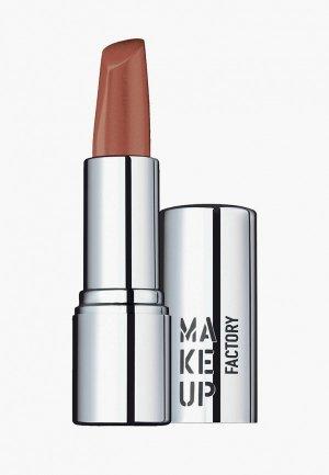 Помада Make Up Factory кремовая Lip Color. Цвет: коричневый