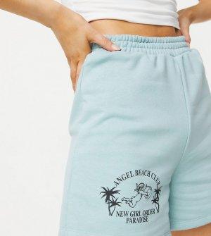 Эксклюзивные пляжные шорты в стиле oversized зеленого цвета от комплекта Exclusive Angel Beach-Зеленый цвет New Girl Order