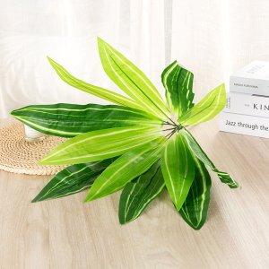 1 ветка искусственная листва SHEIN. Цвет: зелёные