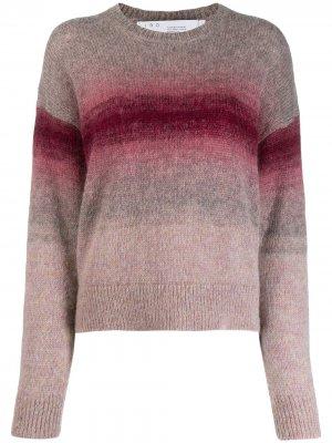 Пуловер в полоску с эффектом омбре IRO. Цвет: фиолетовый