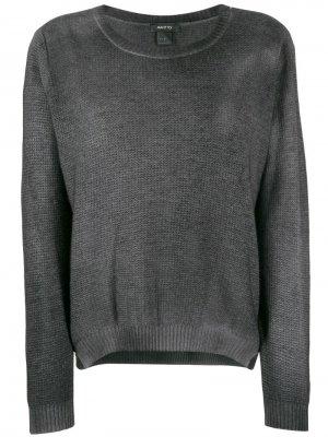 Пуловер с круглым вырезом Avant Toi. Цвет: черный