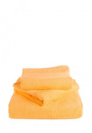 Набор полотенец Bellehome Голд. Цвет: желтый