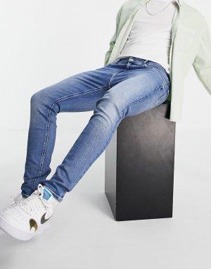 Супероблегающие джинсы голубого выбеленного цвета -Голубой Calvin Klein Jeans