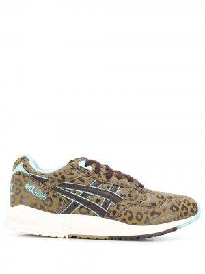 Кроссовки Gel Saga с леопардовым принтом ASICS. Цвет: коричневый