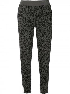 Спортивные брюки с анималистичным принтом Atm Anthony Thomas Melillo. Цвет: серый