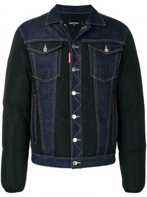 Джинсовая куртка с дутыми рукавами Dsquared2