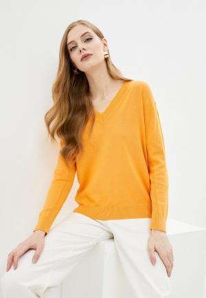 Пуловер Marks & Spencer. Цвет: оранжевый