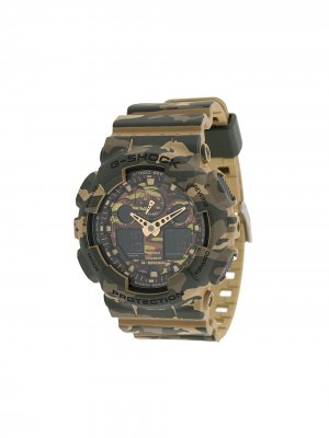 Наручные часы GA-100CM5-AER G-Shock. Цвет: зеленый