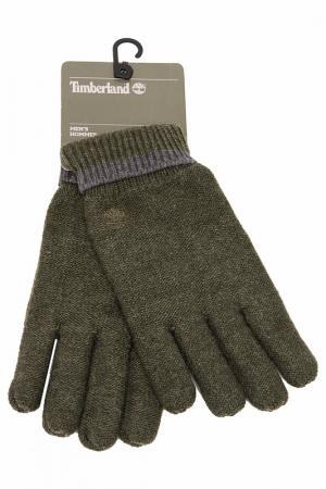 Перчатки Timberland. Цвет: зеленый