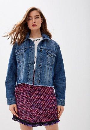 Куртка джинсовая Escada Sport Bahamas. Цвет: синий