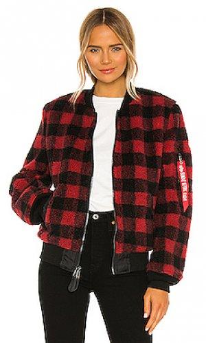 Куртка из искусственного меха l-2b ALPHA INDUSTRIES. Цвет: красный