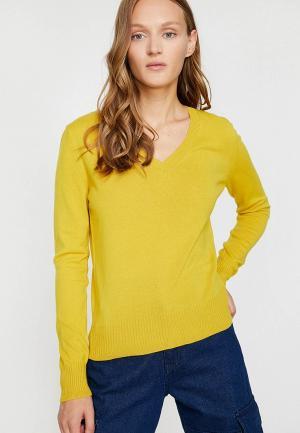Пуловер Koton. Цвет: желтый