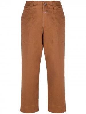 Укороченные брюки с завышенной талией Closed. Цвет: коричневый
