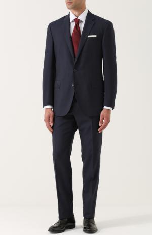 Шерстяной костюм с пиджаком на двух пуговицах Polo Ralph Lauren. Цвет: темно-синий