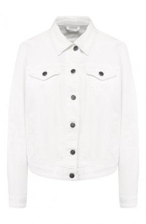 Джинсовая куртка BOSS. Цвет: кремовый
