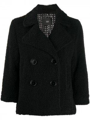 Двубортная фактурная куртка Steffen Schraut. Цвет: черный