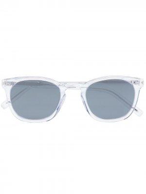 Солнцезащитные очки SL28 в квадратной оправе Saint Laurent Eyewear. Цвет: серебристый