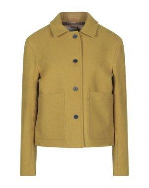 Пальто GLOVERALL. Цвет: охра