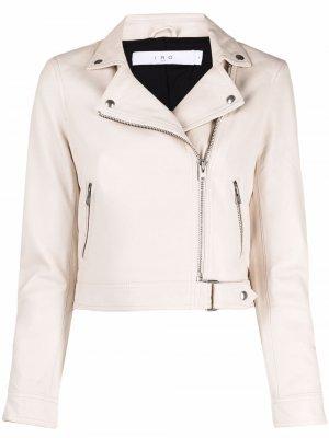 Укороченная куртка на молнии IRO. Цвет: нейтральные цвета