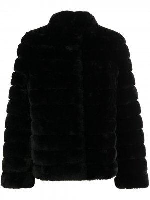 Шуба из искусственного меха Michael Kors. Цвет: черный