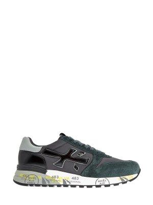 Комбинированные кроссовки Mick с объемным логотипом бренда PREMIATA. Цвет: мульти