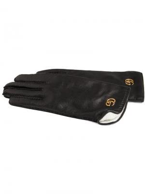 Перчатки с логотипом GG Gucci. Цвет: черный