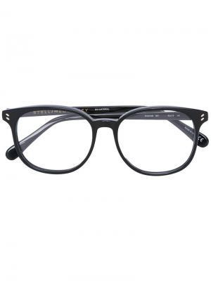 Очки в оправе wayfarer Stella Mccartney Eyewear. Цвет: чёрный