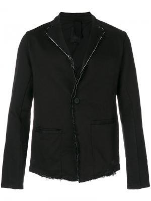 Пиджак с необработанными краями Thom Krom. Цвет: чёрный