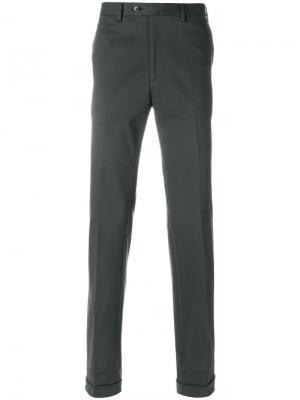 Классические брюки Brioni. Цвет: зелёный