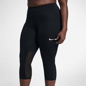Женские капри для тренинга Power Nike. Цвет: черный