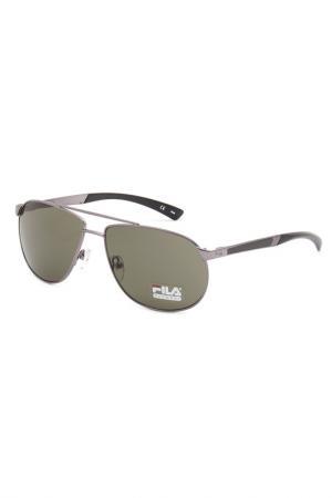 Очки солнцезащитные FILA. Цвет: серый