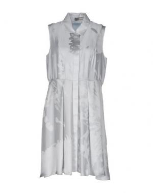 Короткое платье GRINKO. Цвет: светло-серый