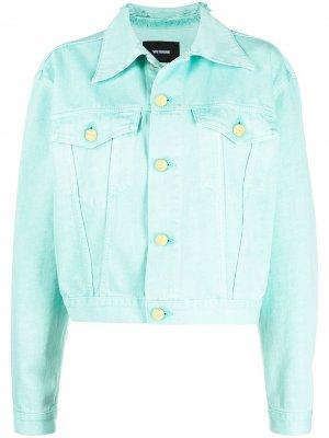 Джинсовая куртка с нашивкой-логотипом We11done. Цвет: синий
