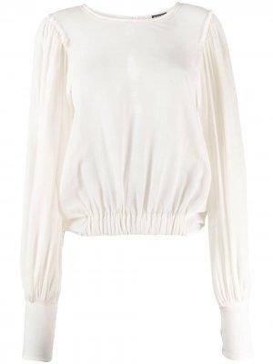 Блузка с драпировкой на спине Ann Demeulemeester. Цвет: нейтральные цвета