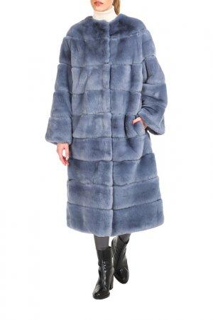 Fur coat Manakas. Цвет: blue