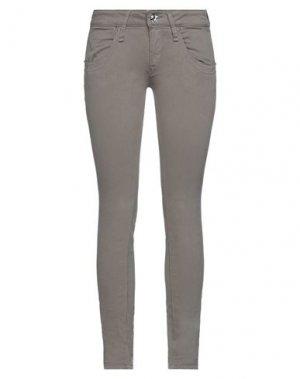Повседневные брюки FORNARINA. Цвет: голубиный серый
