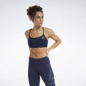Бра-топ CrossFit® Skinny Strap Read Medium-Impact Reebok. Цвет: vector navy