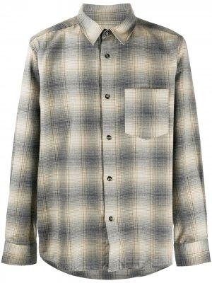 Клетчатая рубашка с длинными рукавами A.P.C.. Цвет: нейтральные цвета